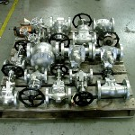 Boilers valves ready to ship after service